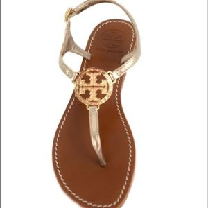 Tory Burch violet sandal 6.5 in gold